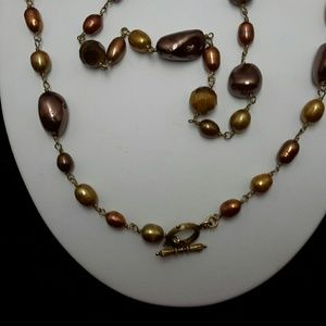 Jewelry - Bronze Beaded Necklace